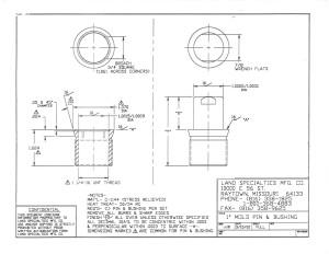 "1"" Mold Pin & Bushing"
