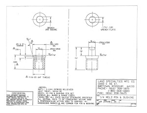 "1/4"" Mold Pin & Bushing"