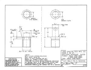 "3/4"" Mold Pin & Bushing"