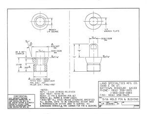 "5/16"" Mold Pin & Bushing"