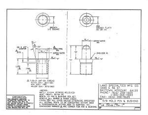 "5/8"" Mold Pin & Bushing"