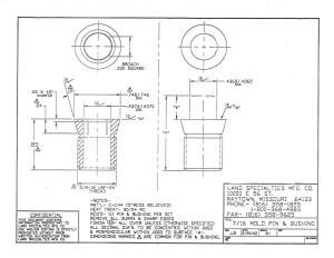 "7/16"" Mold Pin & Bushing"